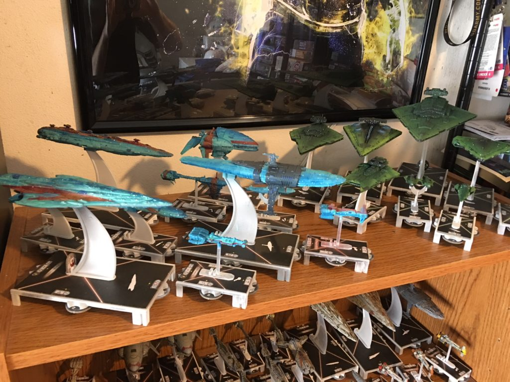 Picture of all Armada ships, painted.